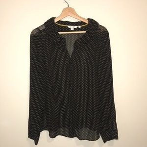 Boden SemiSheer Blouse Size 10